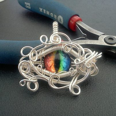 Beastmaster Rainbow Dragon Eye Pendant by Create-A-Pendant