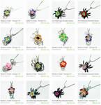 Custom Wire Wrap Perfume Pendants
