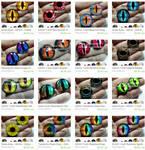 Handmade Glass Eyes for Altered Art Pendants