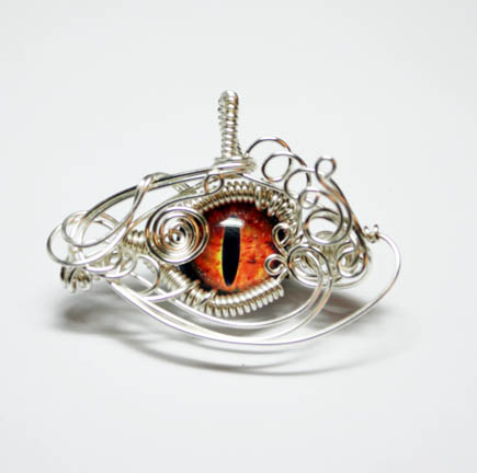 Wire Wrap Eye of Sauron Pendant by Create-A-Pendant