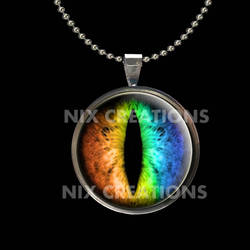 Rainbow Dragon Eye Pendant with Necklace