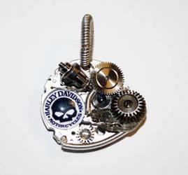 Steampunk HARLEY Altered Art Pendant
