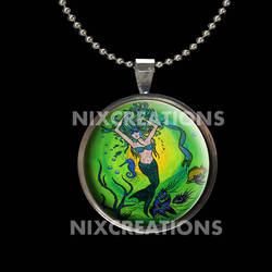 Original Art Mermaid Photo Pendant by Create-A-Pendant