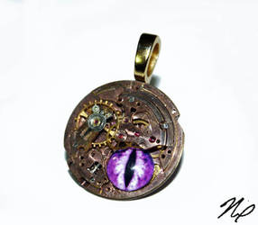 Purple Dragon Eye - Ghost in the Machine Pendant by Create-A-Pendant