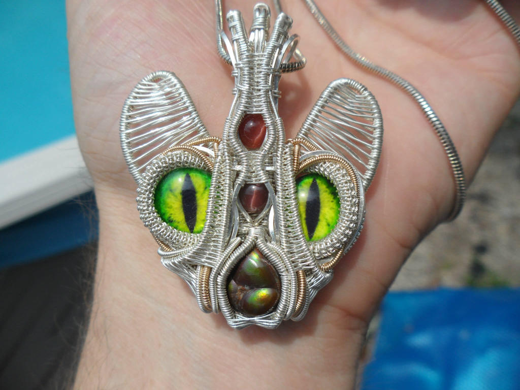 Wire Wrap Creature Pendant by Create-A-Pendant