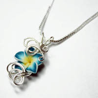 Wire Wrap Tropical Flower Perfume Pendant by Create-A-Pendant