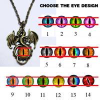 Custom Glass Dragon Eye Pendants