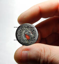 Glass Dragon Cabochon for Pendants and Jewelry