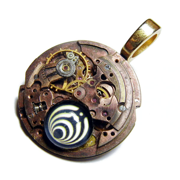 Copper Steampunk Bassnectar Pendant by Create-A-Pendant