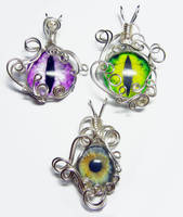 Wire Wrap Eye Pendants by Create-A-Pendant