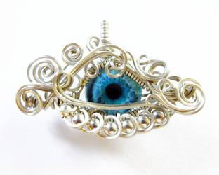 Wire Wrap Glass Eye Pendant by Create-A-Pendant