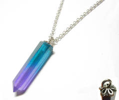 Resin Crystal Pendant with Necklace by Create-A-Pendant