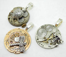 Steampunk Altered Art Pendants by Create-A-Pendant