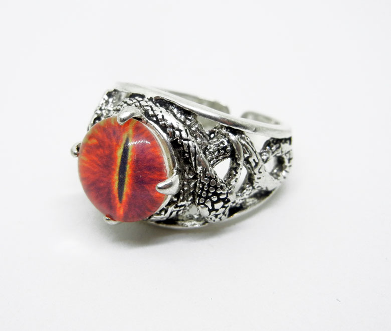 Eye of sauron lord of the rings inspired ring by create a pendant aloadofball Choice Image