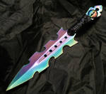 Wire Wrap Rainbow Dragon Eye Dagger
