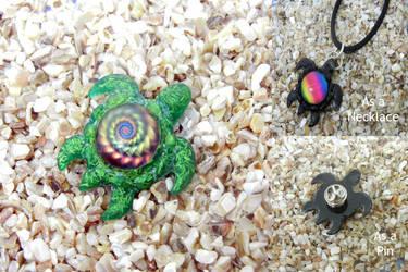 Resin Turtle Pendant or Pin