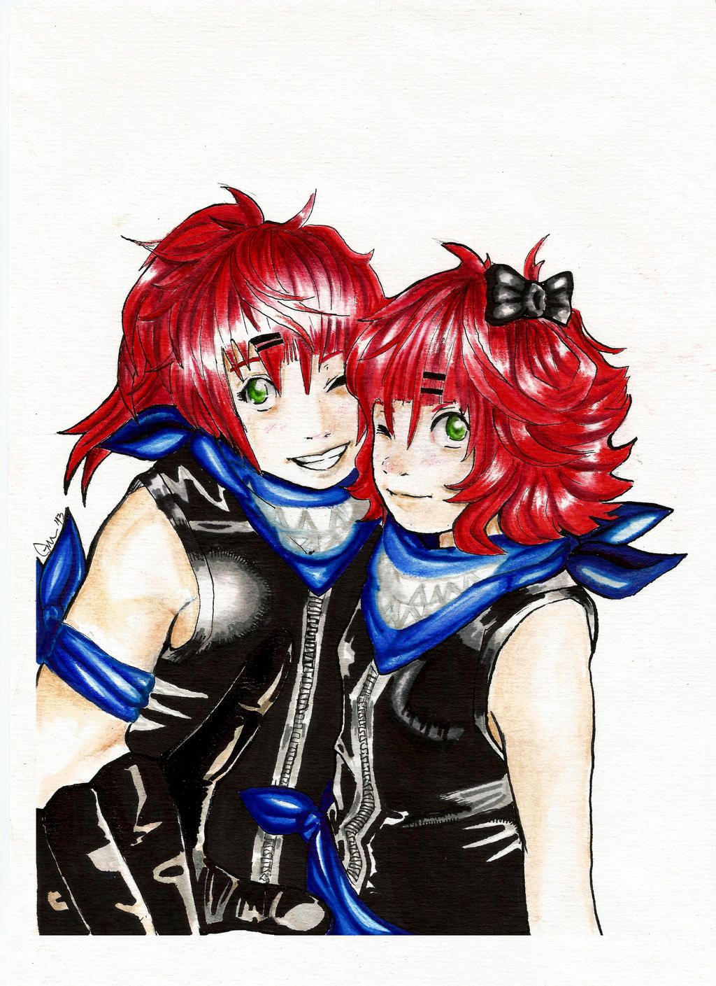 Crimson Twins - Request by Piuna