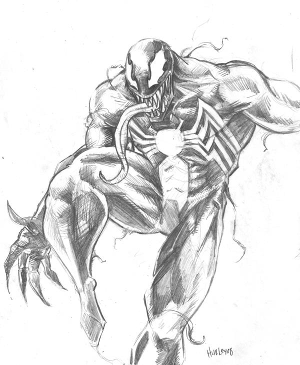 venom sketch by ehurley on DeviantArt