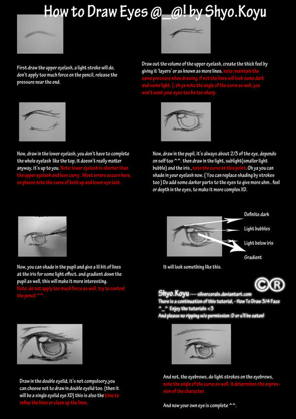 Tutorial - How to Draw Eyes by bunnify