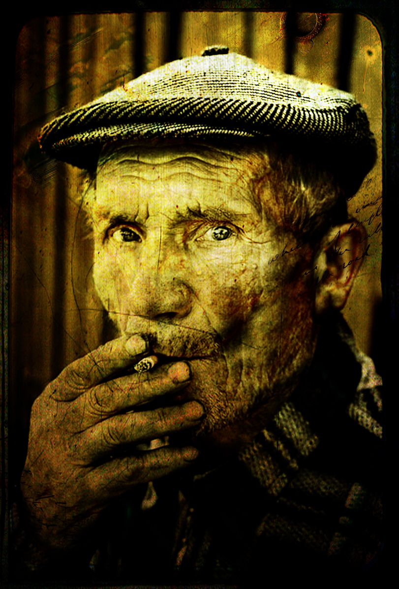 grungy old man by saloooomy