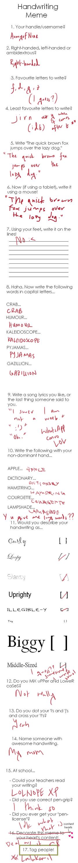 Handwriting Meme by ArmyofNine