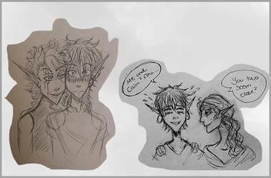Caim And Casper Sketches
