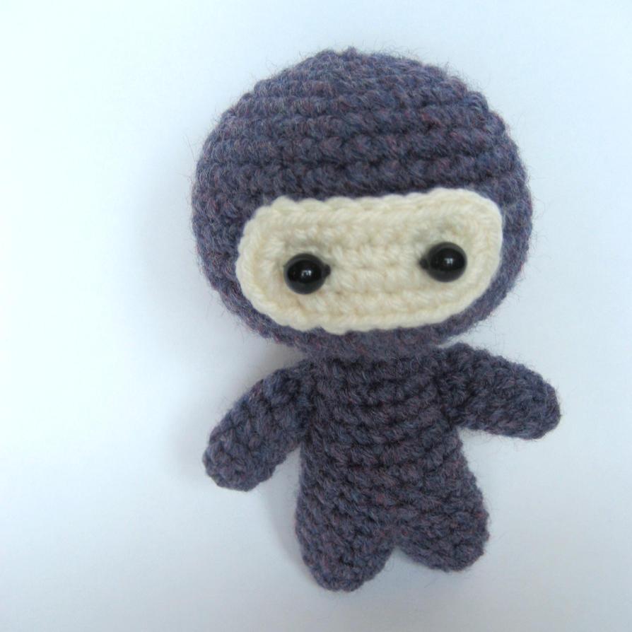 Amigurumi Ninja : Amigurumi Purple Ninja by MsPremiseConclusion on DeviantArt