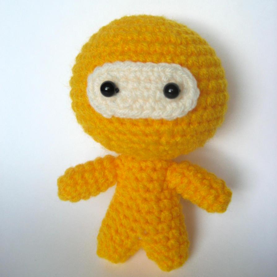 Amigurumi Ninja : Amigurumi Yellow Ninja by MsPremiseConclusion on DeviantArt