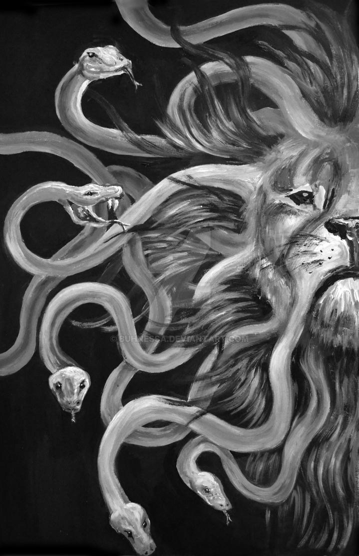 Medusa Lion by buhnessa on DeviantArt