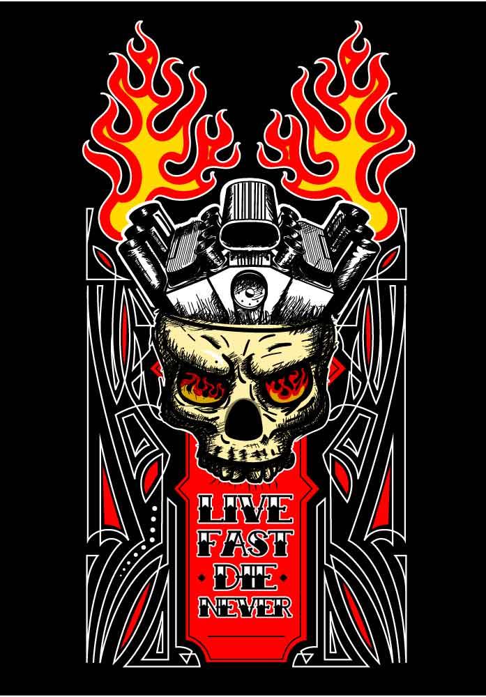 Hotrod Skull by XxxL032
