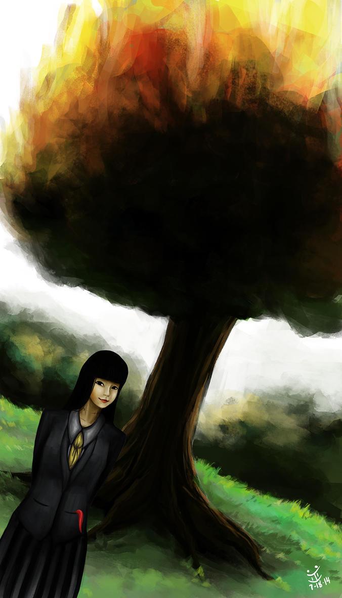 Burning Tree by evanlai