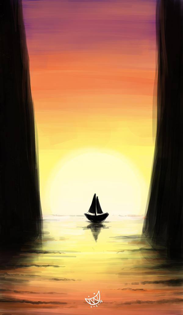 Sunset Pathway by evanlai