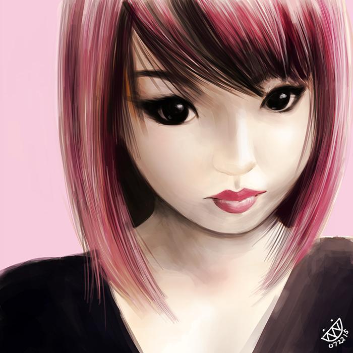 Pink Hair Alodia by evanlai