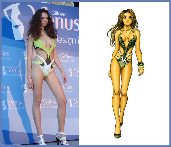 Venus design swimsuit by Tania-S