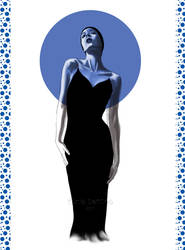 Black dress illustration by Tania-S