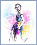 color print-fashion illustration