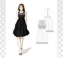 fashion - black dress by Tania-S