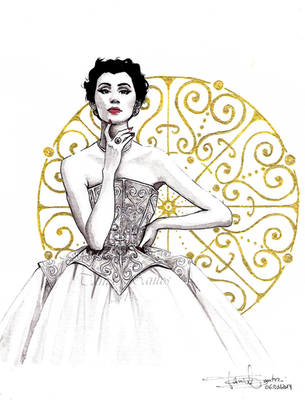 Vintage Balenciaga Illustration by Tania-S