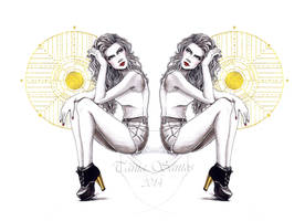 CL Shoes 01 - fashion illustration by Tania-S