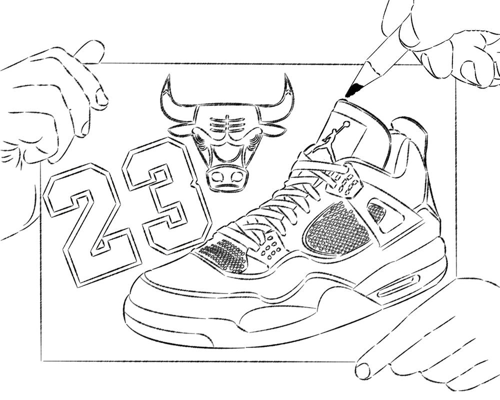 basketball shoes coloring pages printable - photo#18
