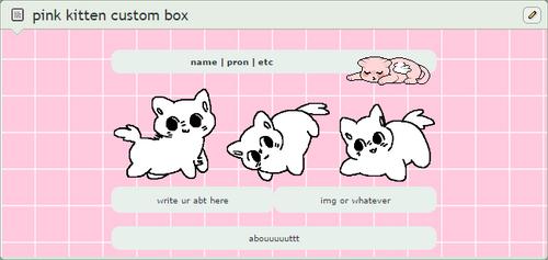 pink kitten custom box code [ftu]