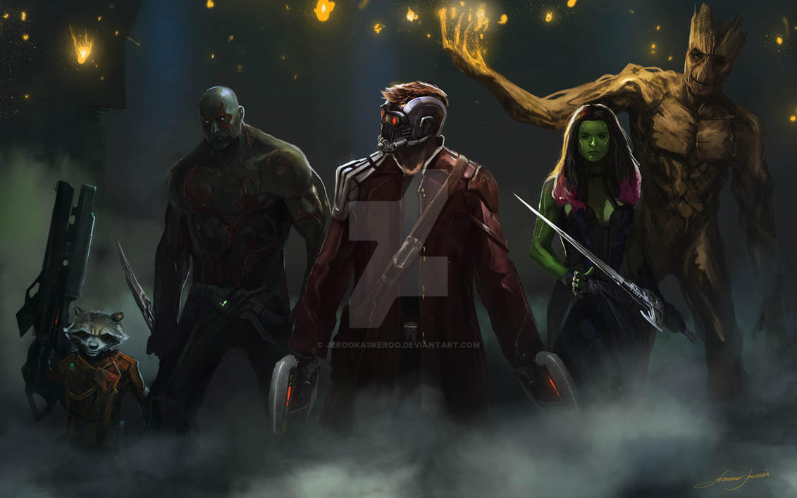 Guardians of the Galaxy by JerooKaskeroo