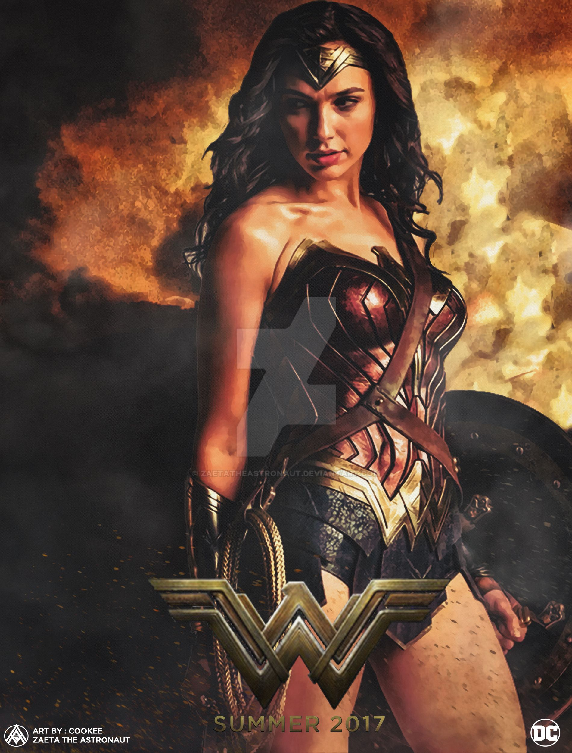 Wonder Woman Movie Poster By Zaetatheastronaut Da4n6o8