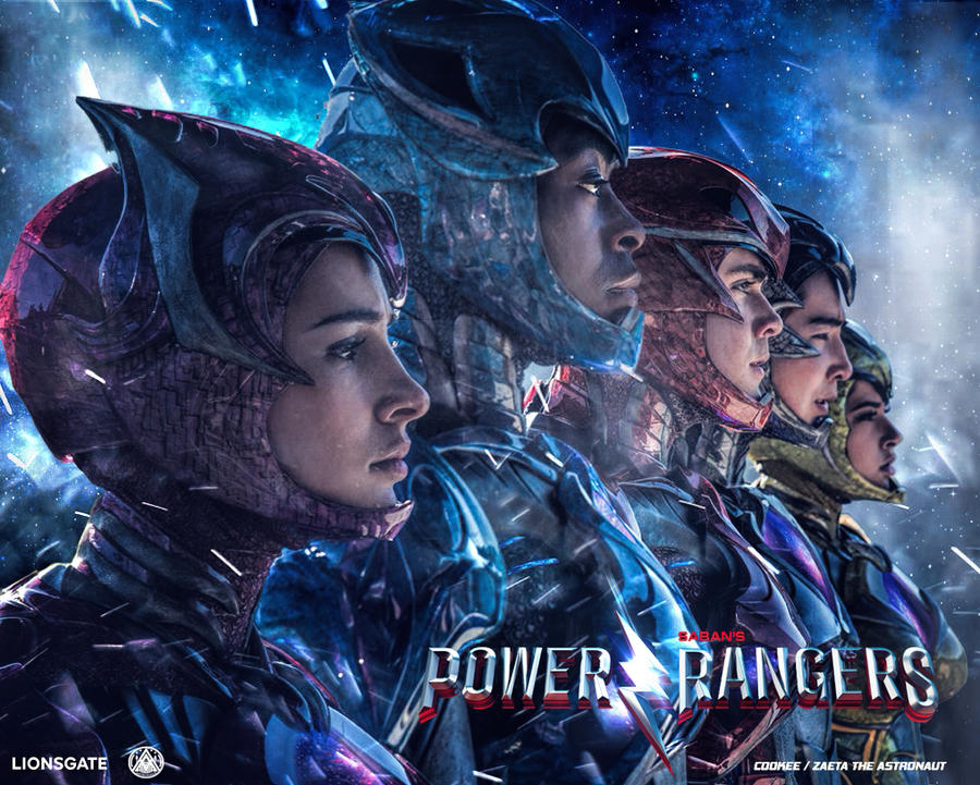 2017 Movie Posters: Power Rangers Movie Fan Poster By ZaetaTheAstronaut On