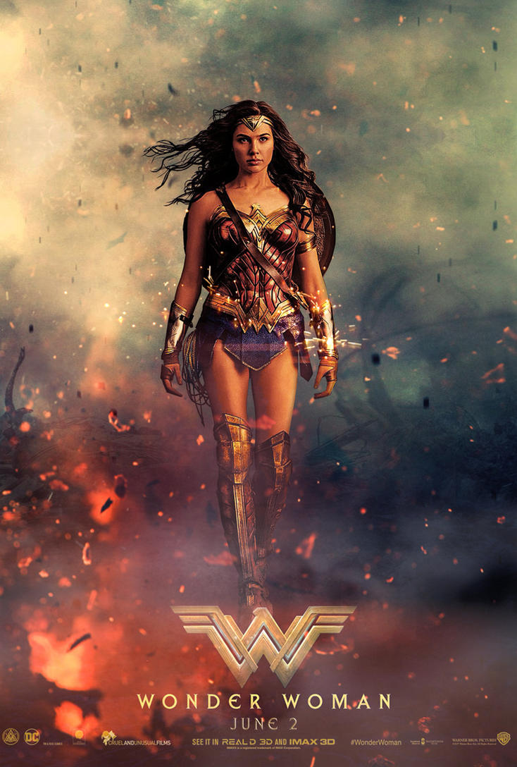 Wonder Woman Poster Movie Poster 1  (Large) by ZaetaTheAstronaut