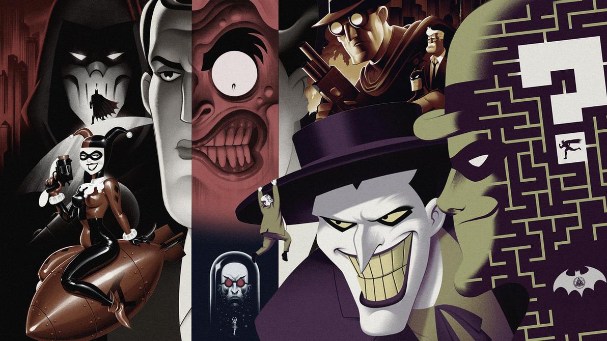 Batman The Animated Series : Villains 4K Wallpaper by ZaetaTheAstronaut