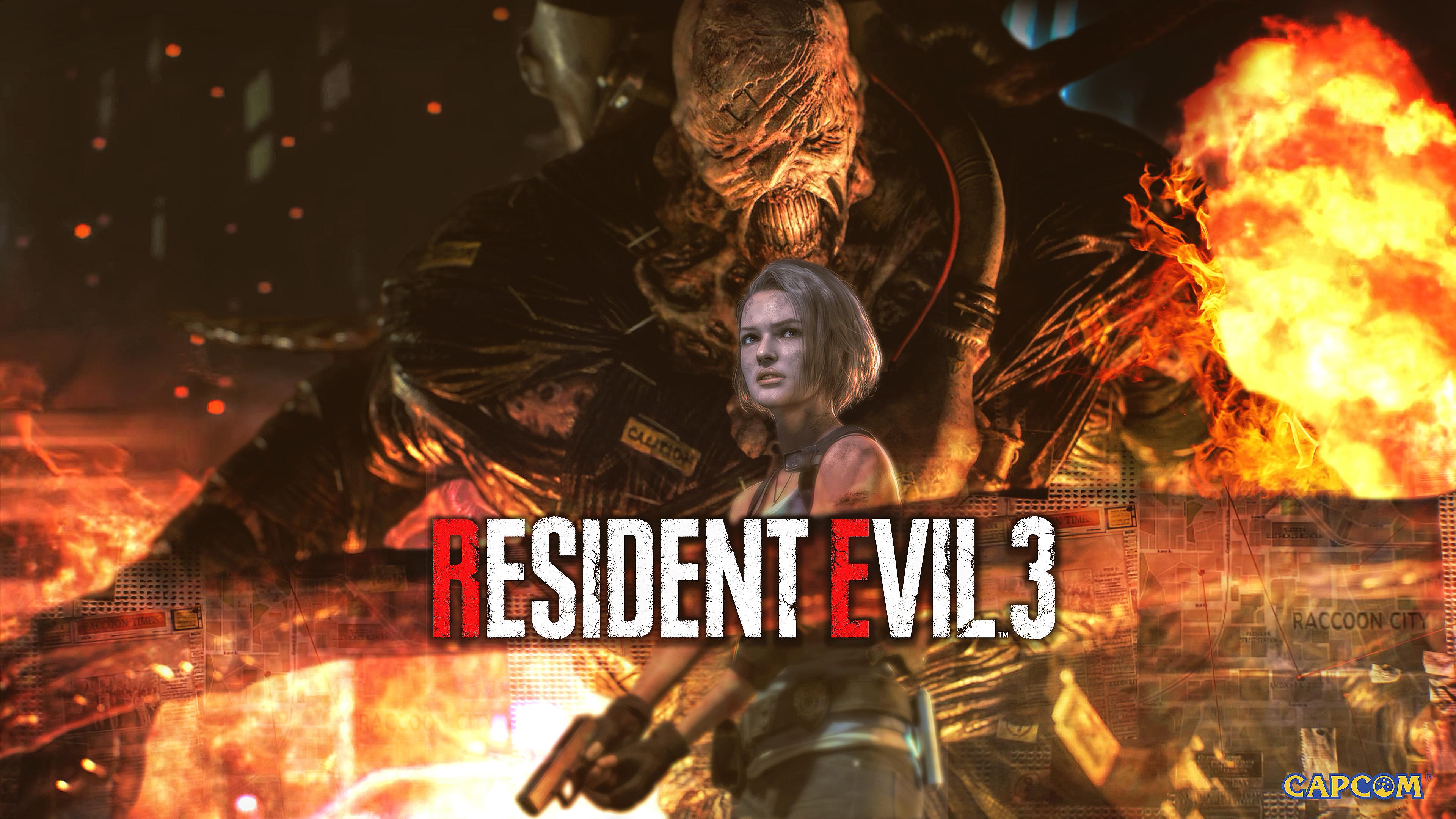 Resident Evil 3 Jill And Nemesis Wallpaper 4k By
