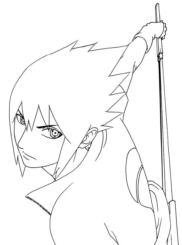 Sasuke Lineart : Sasuke lineart by quembot on deviantart