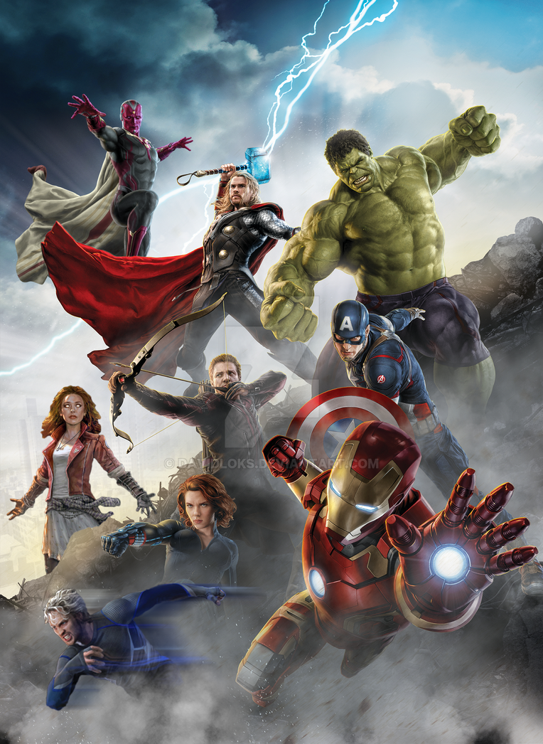 Avengers Age Of Ultron By Iloegbunam On Deviantart: Avengers: Age Of Ultron, Roster Poster (FM) By DavidLoks
