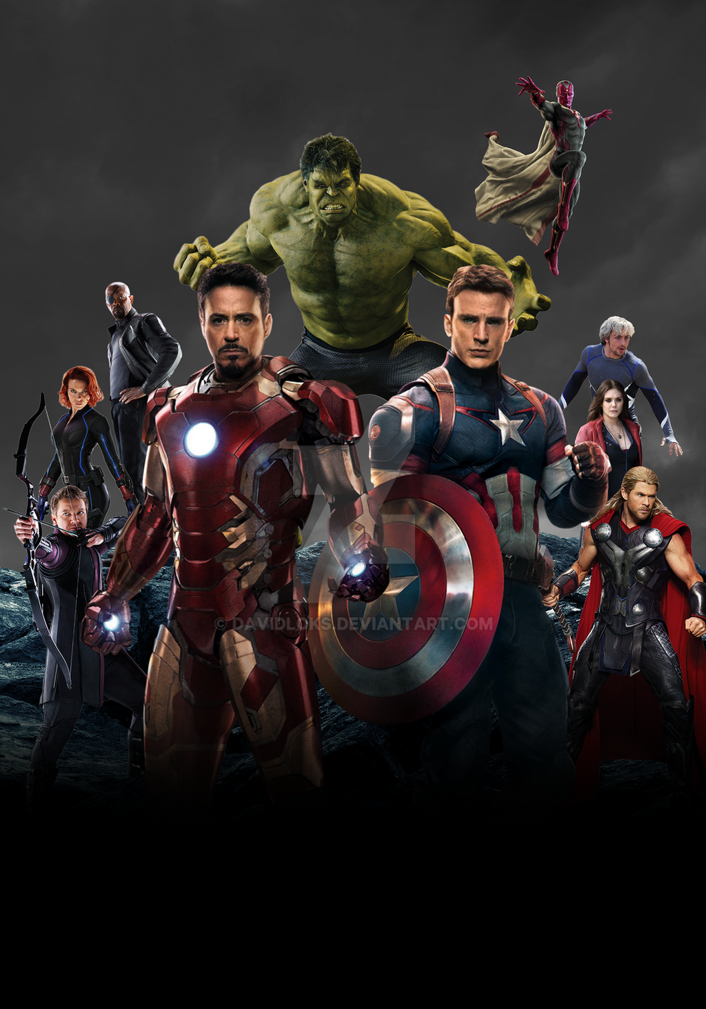 Avengers Age Of Ultron By Iloegbunam On Deviantart: Avengers: Age Of Ultron Poster (FM) By DavidLoks On DeviantArt